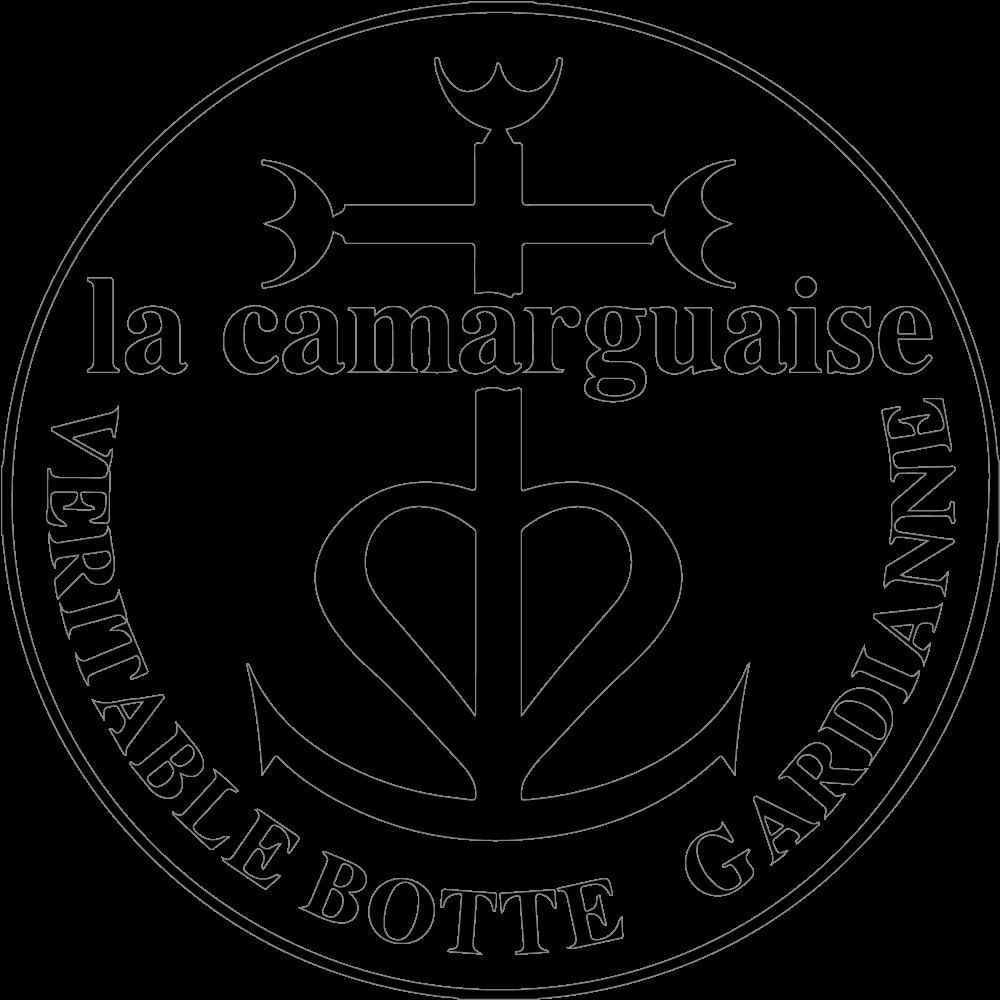 la camarguaise botte gardiane veritable logo